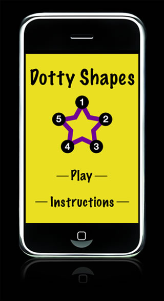 Screenshot of Dotty Shapes game
